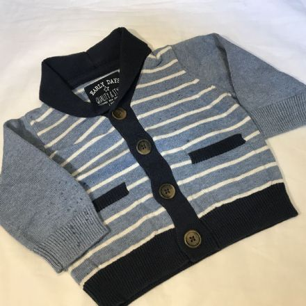 0-3 Month Stripe Cardigan